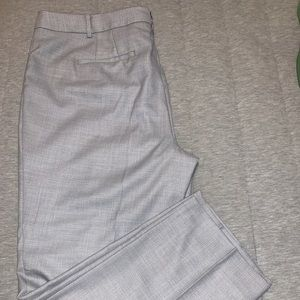 Talbots grey and white printed slim pants Size 16